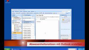 Abwesenheitsnotizen mit Outlook erstellen