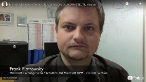 Microsoft Exchange Server schützen mit Microsoft DPM – ESEUTIL Version